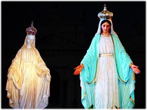 Corone realizzate per le due antiche statue Mariane del Laterano in Roma