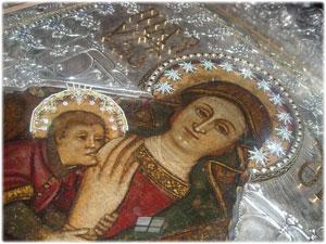 Intervento sulla cornice del Quadro della B.V. Maria di Capocolonna