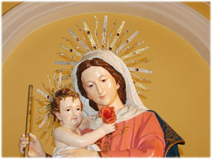 Raggiere in oro e argento realizzate per la Statua della Madonna di Vergadoro in Strongoli