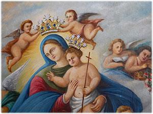 Diademi realizzati per il Quadro della Madonna di Setteporte in Rocca di Neto