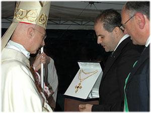 Croce Pettorale realizzata per il Cardinale Angelo Bagnasco Presidente CEI