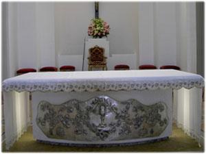 Pala in argento realizzata per l'altare della Chiesa di San Basilio in Crotone