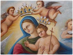 Diademi realizzati per la Tela della Madonna di Setteporte in Rocca di Neto (KR)