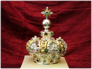 Corona realizzata per il Capo del Bambinello della Statua della Madonna di Manipuglia in Crucoli (KR)