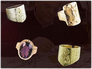 Anelli in oro e argento realizzati interamente a mano