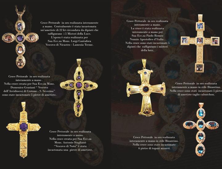 Croci Pettorali in oro e argento realizzati interamente a mano