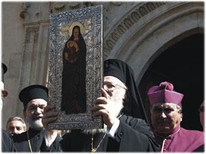 Croce Pettorale e bassorilievo realizzati per il Patriarca di Costantinopoli Bartolomeo I