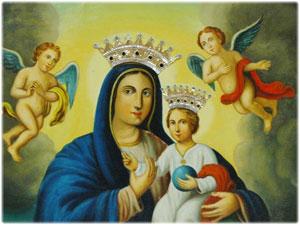 Diademi realizzati per il Quadro della Madonna delle Pianette in Foresta di Petilia Policastro (KR)