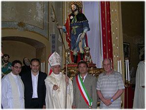 Pastorale realizzato per la Statua di San Rocco in Vallefiorita (CZ)