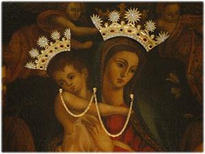 Diademi realizzati per il Quadro della Madonna della Consolazione di Oliveto