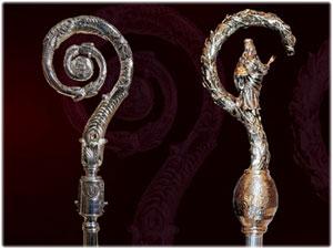 Pastorali in oro e argento realizzati interamente a mano