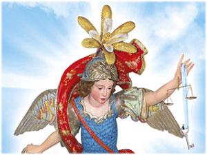 Giglio realizzato per la Statua di San Michele Arcangelo che si venera in San Nicola Dell'Alto (KR)