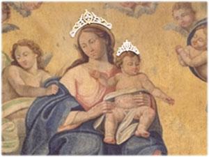 Cornice e Diademi realizzati per il quadro della Madonna della Sanità in Strongoli
