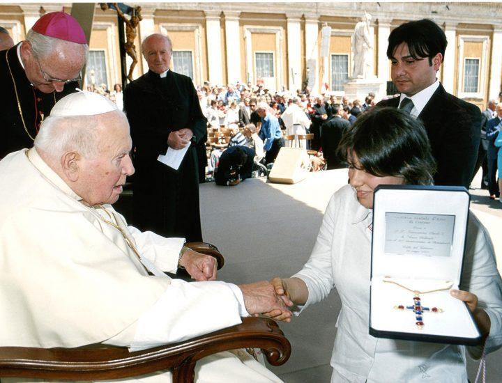 Croce Pettorale realizzata per Sua Santità Giovanni Paolo II