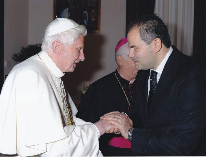 Stemma Papale realizzato per<br> Sua Santità Benedetto XVI