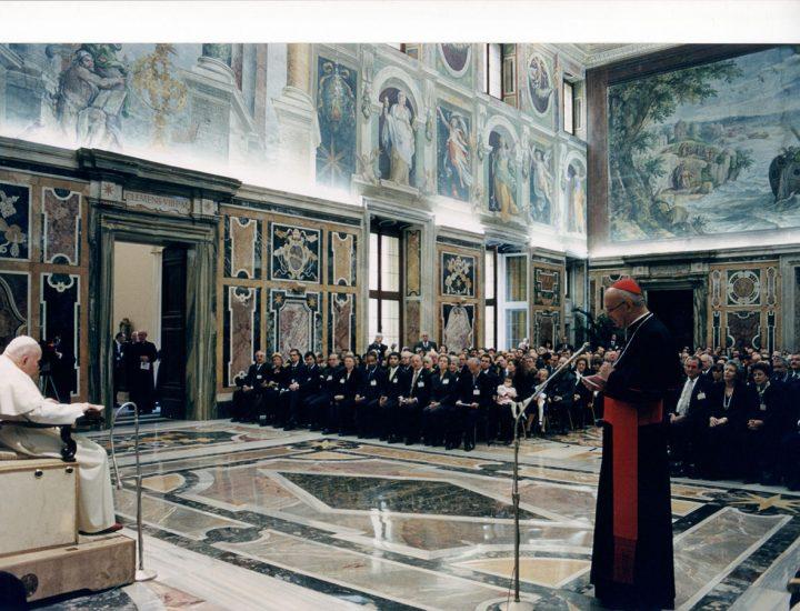 Udienza Privata con Sua Santità Giovanni Paolo II concessa alla Fondazione Centesimus Annus Pro Ponteficie