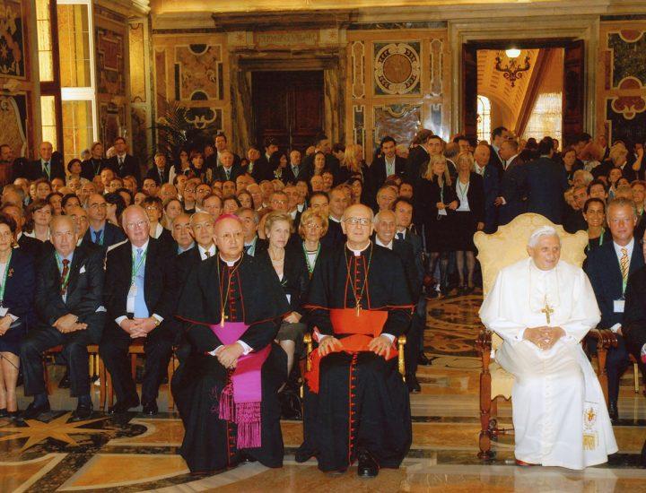 Udienza Privata con Sua Santità Benedetto XVI concessa la Fondazione Centesimus Annus Pro Pontifice