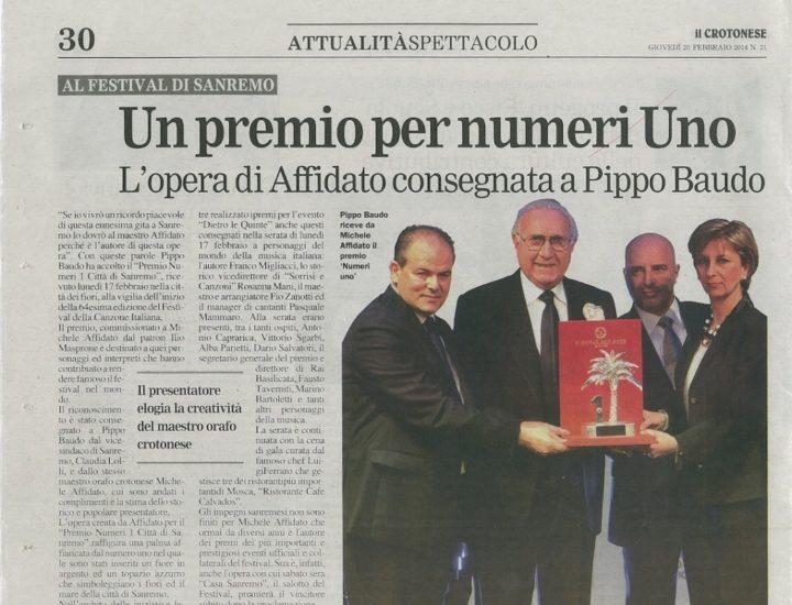 Sanremo – Premio a Pippo Baudo