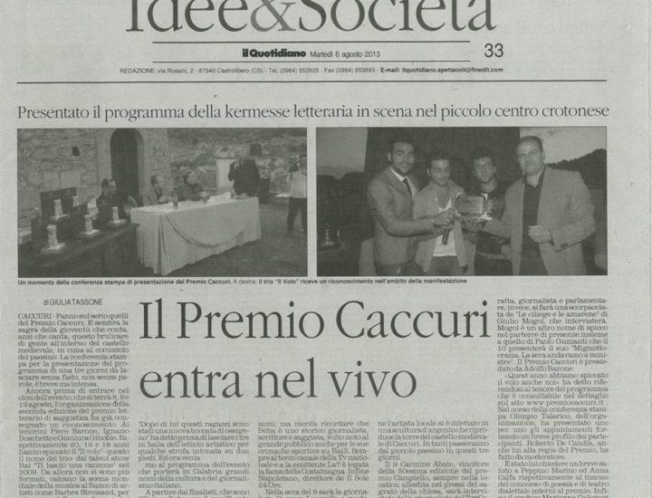 Premio Letterario Caccuri 2013