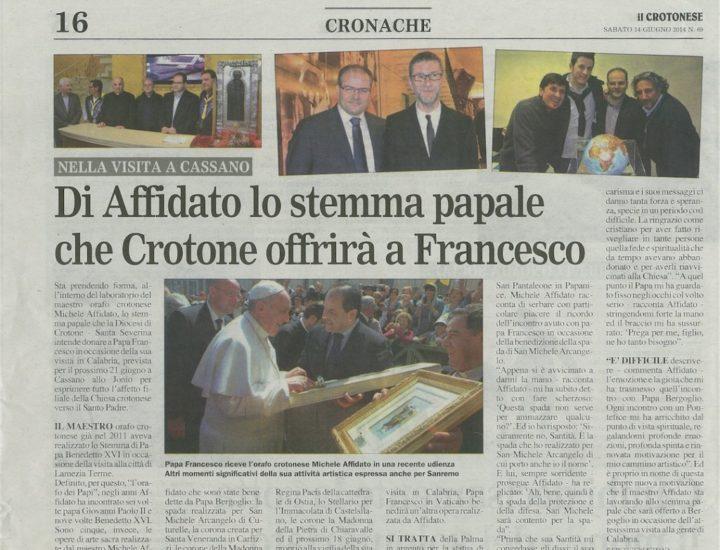 Stemma Papale realizzato per Papa Francesco