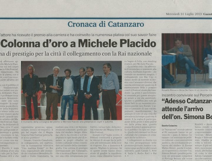 La Colonna d'oro a Michele Placido