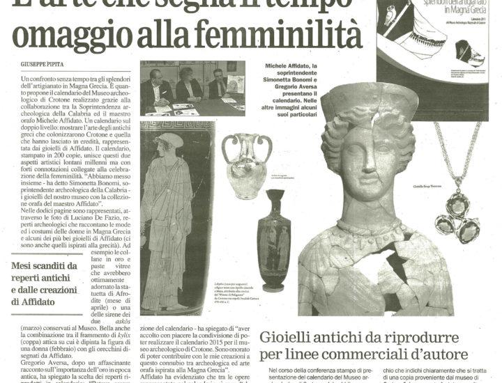 L'arte che segna il tempo omaggio alla femminilità