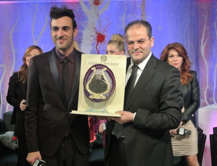 Sanremo 2013 – 63° Festival della Canzone Italiana. Premio Casasanremo realizzato per il vincitore del Festival Marco Mengoni e premi Afi