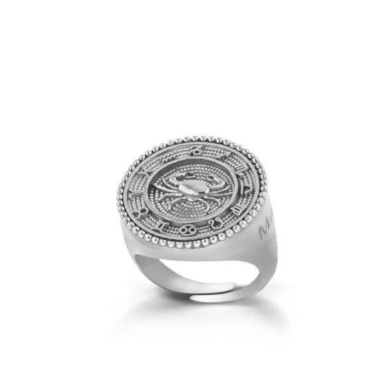 anello-con-segno-zodiacale-cancro-in-argento
