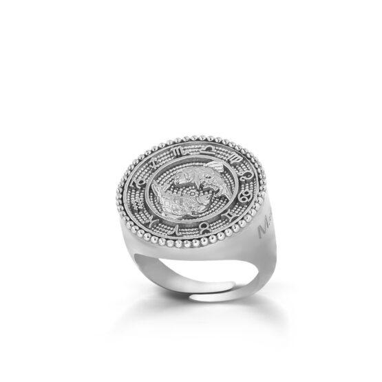 anello-con-segno-zodiacale-pesci-in-argento