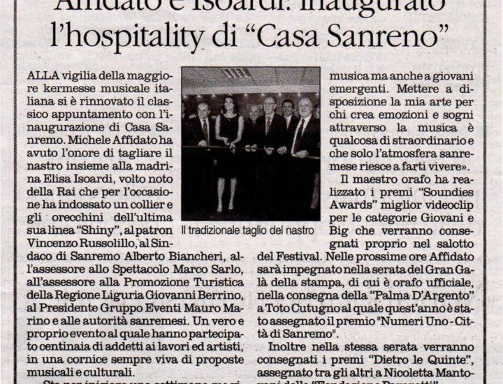 """Affidato e Isoardi: inaugurato l'hospitality di """"Casa Sanremo"""""""