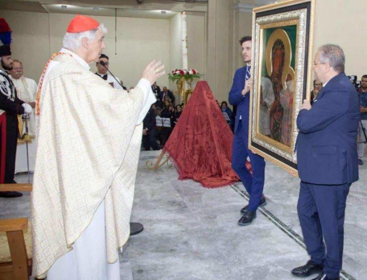 Teca cornice realizzata per l'icona consegnata dal Vescovo di Czestochowa benedetta nella Basilica Cattedrale di Crotone,  in una solenne Celebrazione da S. E. il Signor Cardinale Edoardo Menichelli