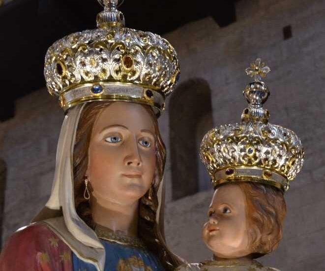 Corone realizzate per la  Madonna del Pozzo di Bisceglie