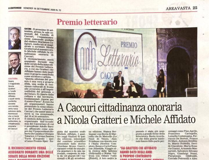 A Caccuri cittadinanza onoraria a Nicola Gratteri e Michele Affidato