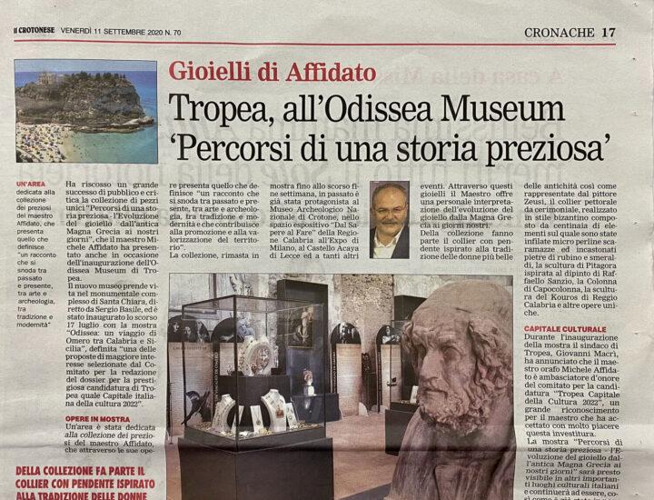 Tropea, all'Odissea Museum 'Percorsi di una storia preziosa'